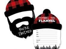 74 Adding Lumberjack Birthday Invitation Template Now by Lumberjack Birthday Invitation Template