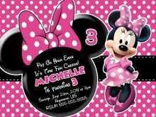 74 Adding Minnie Mouse Birthday Invitation Template Layouts for Minnie Mouse Birthday Invitation Template