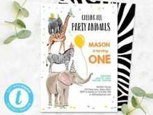74 Best Birthday Invitation Template Animals for Ms Word with Birthday Invitation Template Animals