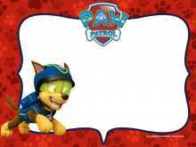 74 Blank Paw Patrol Invitation Template Blank Free Now with Paw Patrol Invitation Template Blank Free