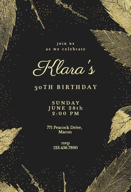 74 Create Birthday Invitation Template Black And Gold in Photoshop for Birthday Invitation Template Black And Gold