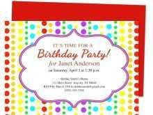 74 Create Kiddie Birthday Invitation Template in Word for Kiddie Birthday Invitation Template