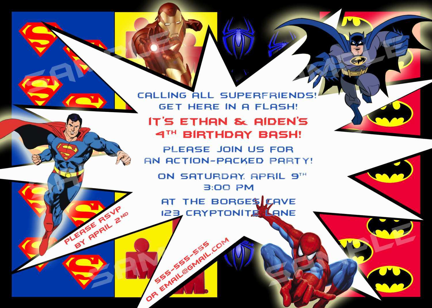 74 Creating Justice League Birthday Invitation Template in Photoshop for Justice League Birthday Invitation Template