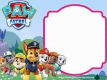 74 Customize Our Free Paw Patrol Party Invitation Template for Ms Word for Paw Patrol Party Invitation Template