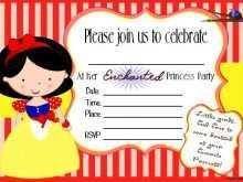 74 Free Birthday Invitation Template Snow White in Photoshop by Birthday Invitation Template Snow White