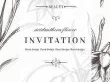 74 Free Black And White Wedding Invitation Template in Word by Black And White Wedding Invitation Template