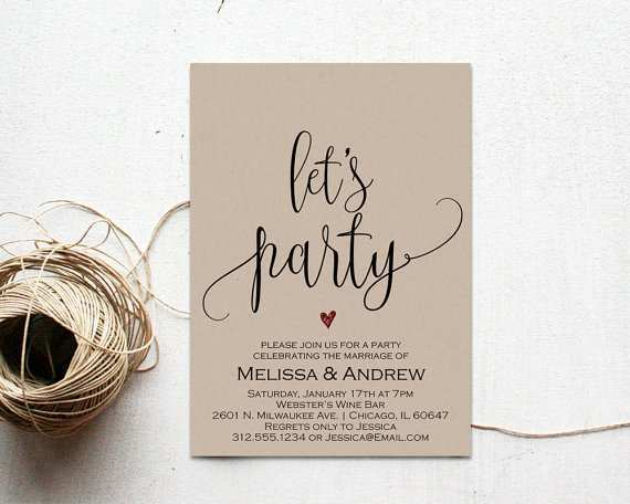 74 Printable Elopement Party Invitation Template Maker for Elopement Party Invitation Template