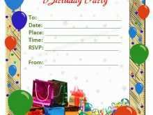 74 Printable Party Invitation Card Template With Stunning Design with Party Invitation Card Template