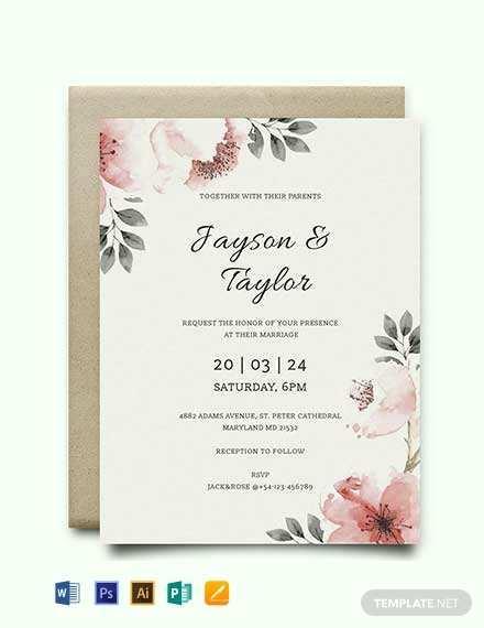 74 Report Indesign Wedding Invitation Template Free for Ms Word with Indesign Wedding Invitation Template Free