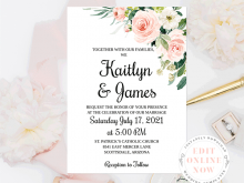 74 Report Wedding Invitation Template Download And Print With Stunning Design with Wedding Invitation Template Download And Print