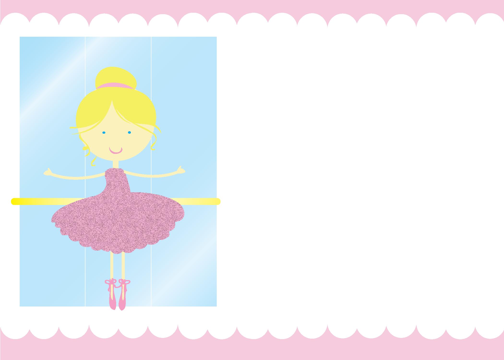 75 Adding Ballerina Birthday Invitation Template Free Formating for Ballerina Birthday Invitation Template Free