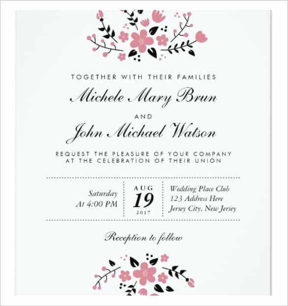 75 Adding Wedding Invitation Template Download And Print Layouts for Wedding Invitation Template Download And Print