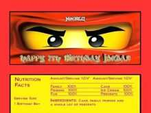 75 Blank Ninjago Party Invitation Template For Free by Ninjago Party Invitation Template