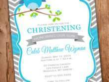 Blank Invitation Templates For Christening
