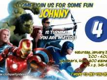 75 Creative Avengers Party Invitation Template Templates by Avengers Party Invitation Template