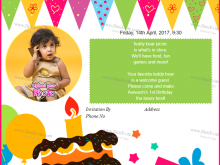 75 Customize Our Free 1St Birthday Invitation Video Template PSD File with 1St Birthday Invitation Video Template