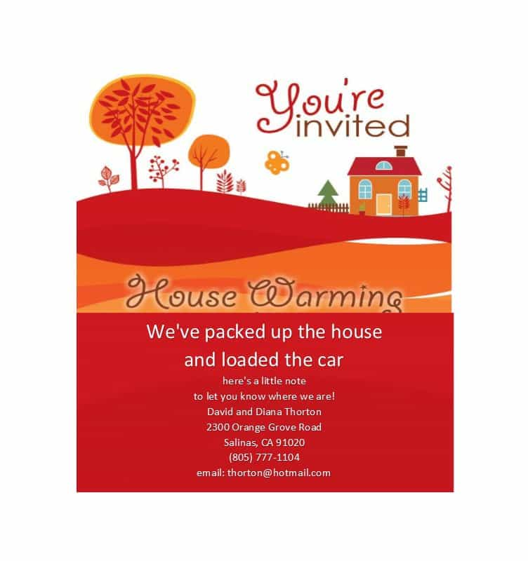 This is an image of Free Printable Housewarming Invitations inside template free