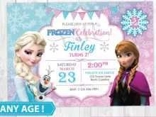 75 Format Elsa Party Invitation Template Now for Elsa Party Invitation Template
