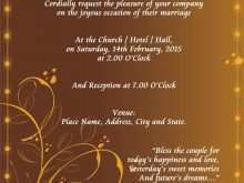 Invitation Card Format Wedding