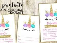 75 Free Printable 1St Birthday Invitation Template Unicorn for Ms Word for 1St Birthday Invitation Template Unicorn