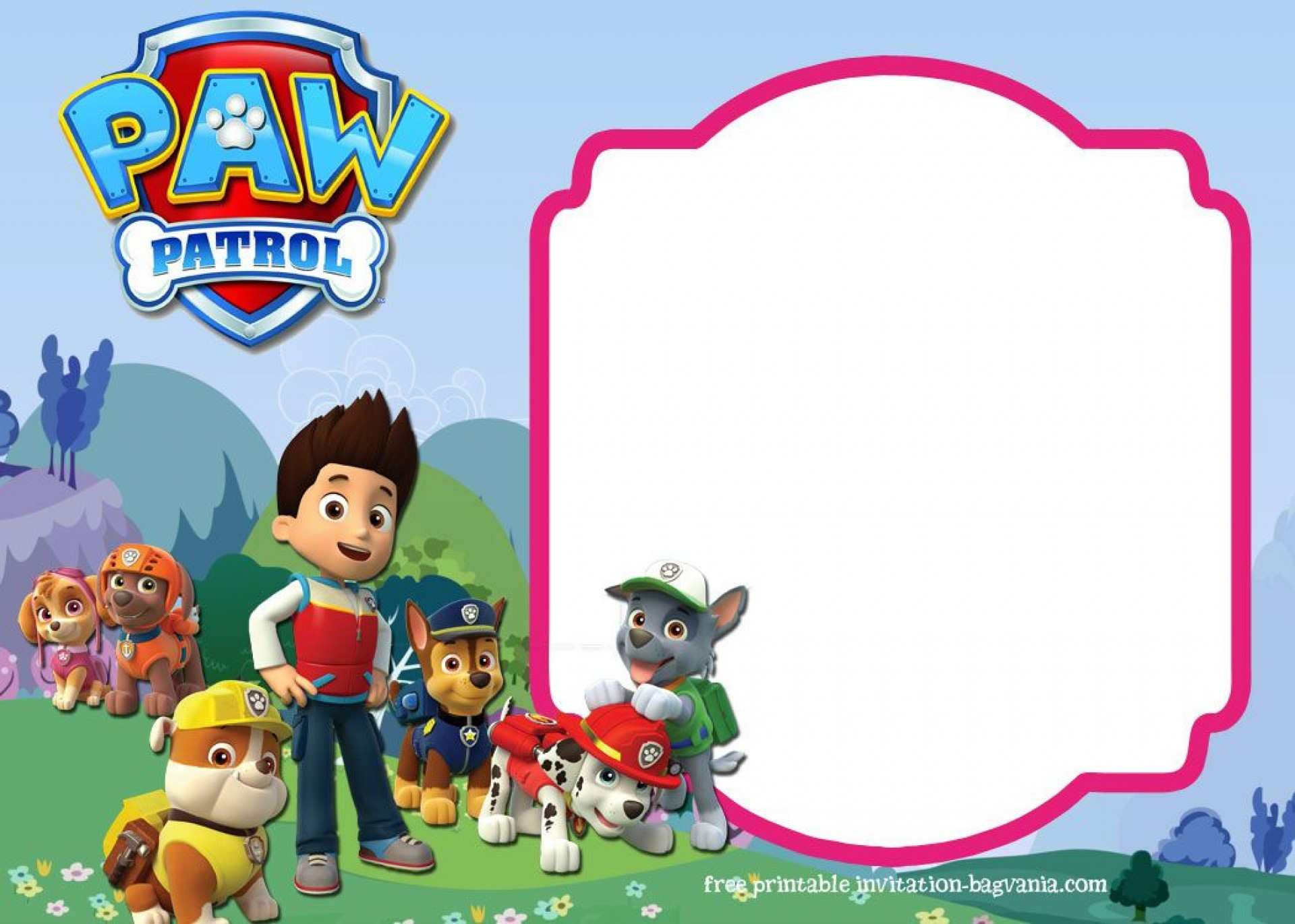 75 Free Printable Free Paw Patrol Birthday Invitation Template With Stunning Design With Free Paw Patrol Birthday Invitation Template Cards Design Templates