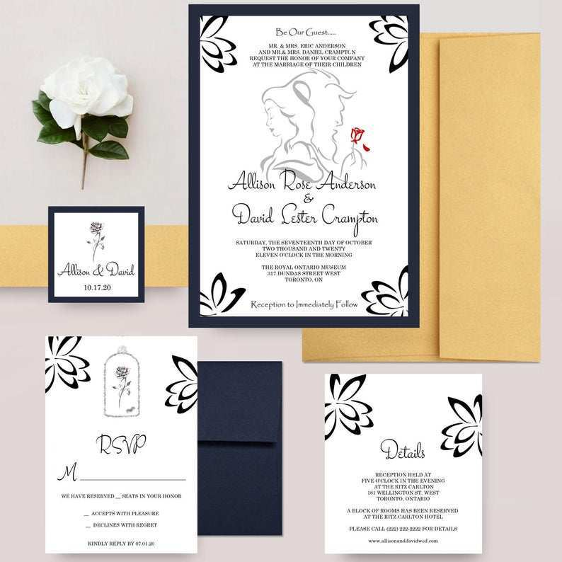 75 Online Beauty And The Beast Wedding Invitation Template Now with Beauty And The Beast Wedding Invitation Template