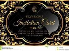 75 Standard Black And Gold Blank Invitation Template Templates by Black And Gold Blank Invitation Template