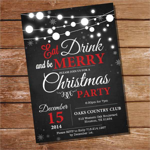 75 Standard Christmas Party Invitation Template Download in Photoshop by Christmas Party Invitation Template Download