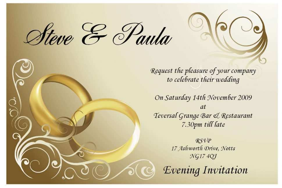 75 Visiting Invitation Card Format For Marriage Templates for Invitation Card Format For Marriage