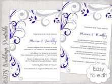 75 Visiting Royal Blue Wedding Invitation Template for Ms Word by Royal Blue Wedding Invitation Template