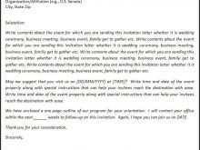 76 Adding Formal Invitation Letter Samples For Free with Formal Invitation Letter Samples