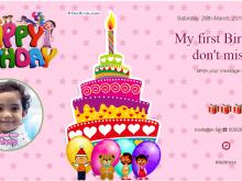 76 Create 1St Birthday Invitation Template Online Photo for 1St Birthday Invitation Template Online