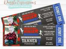 76 Creative American Ninja Warrior Birthday Invitation Template Formating for American Ninja Warrior Birthday Invitation Template