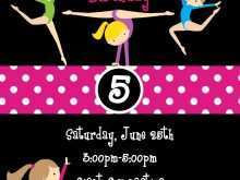 76 Creative Birthday Party Invitation Template Gymnastics Maker for Birthday Party Invitation Template Gymnastics
