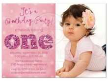 One Year Birthday Invitation Template