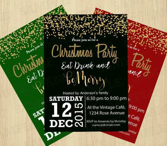 76 Customize Elegant Christmas Party Invitation Template Free Download Download for Elegant Christmas Party Invitation Template Free Download