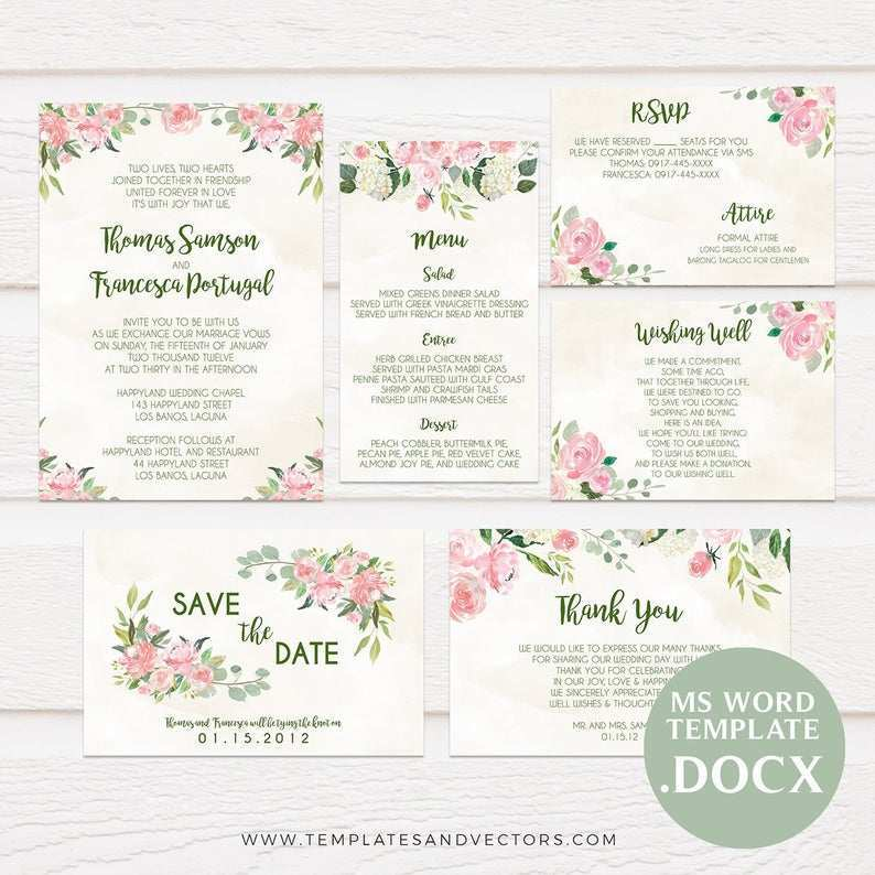 76 Format Tagalog Wedding Invitation Template Maker for Tagalog Wedding Invitation Template