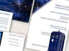Doctor Who Wedding Invitation Template