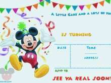 76 How To Create Mickey Mouse Blank Invitation Template Formating with Mickey Mouse Blank Invitation Template