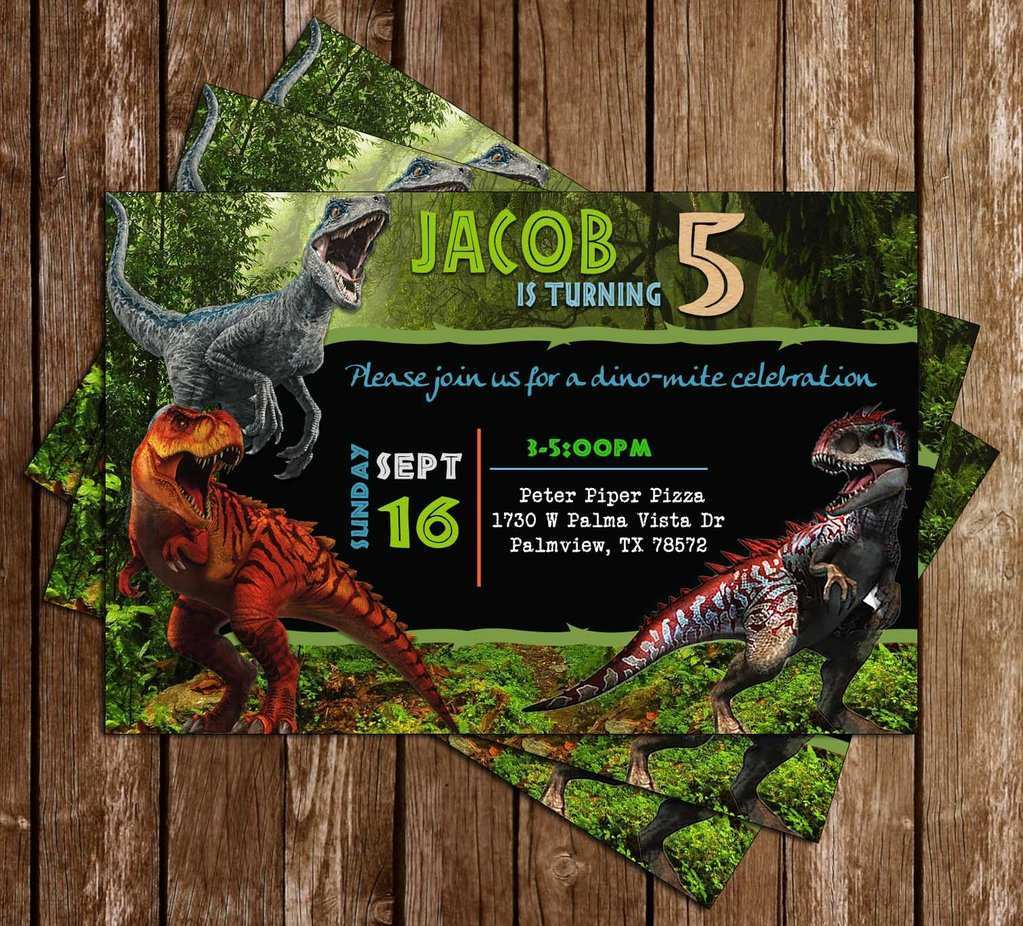 3 Printable Jurassic World Party Invitation Template for Ms Word