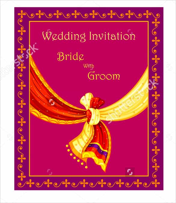Tamil Wedding Invitation Template Vector Cards Design Templates