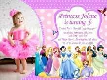 Disney Princess Birthday Invitation Template
