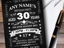 77 Adding Invitation Card 30Th Birthday Example For Free for Invitation Card 30Th Birthday Example