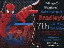 77 Adding Spiderman Party Invitation Template Free With Stunning Design for Spiderman Party Invitation Template Free