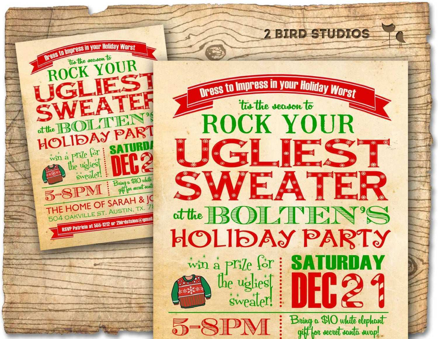 20 Adding Ugly Sweater Holiday Party Invitation Template Now for ...