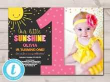 77 Blank You Are My Sunshine Birthday Invitation Template Now with You Are My Sunshine Birthday Invitation Template