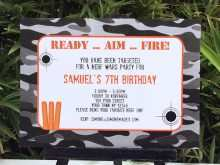 77 Creating Nerf Birthday Invitation Template Free With Stunning Design for Nerf Birthday Invitation Template Free