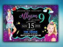 77 Customize Our Free Jojo Siwa Party Invitation Template in Photoshop by Jojo Siwa Party Invitation Template