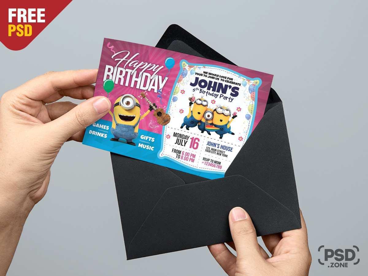 77 Format Birthday Invitation Template Psd Templates with Birthday Invitation Template Psd