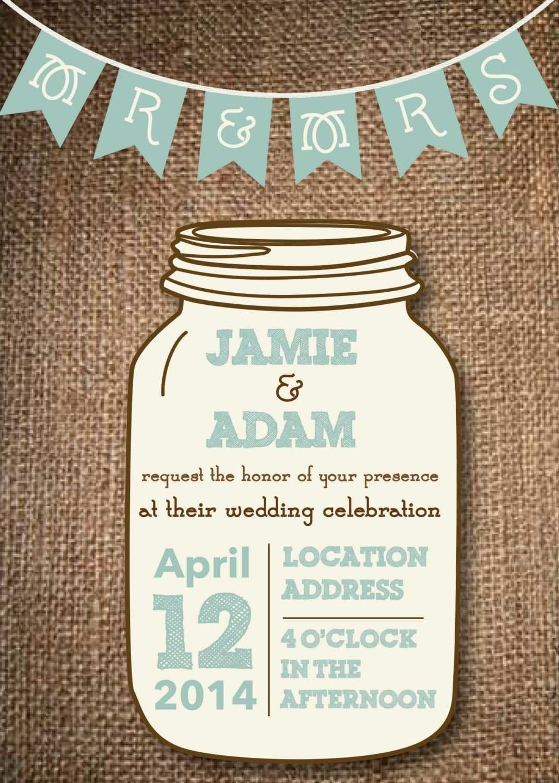 77 Format Jar Wedding Invitation Template for Ms Word with Jar Wedding Invitation Template